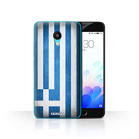 STUFF4 Case/Cover for Meizu M3 / Greece/Greek Design / Flags Collection Mobile phones