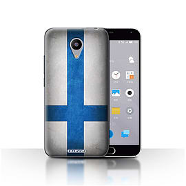 STUFF4 Case/Cover for Meizu M2 / Finland/Finnish Design / Flags Collection Mobile phones
