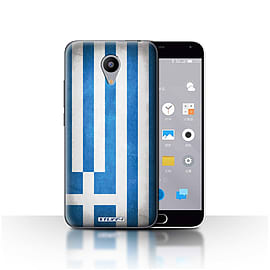 STUFF4 Case/Cover for Meizu M2 / Greece/Greek Design / Flags Collection Mobile phones
