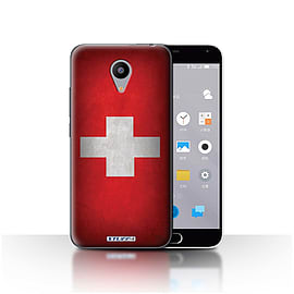 STUFF4 Case/Cover for Meizu M2 / Switzerland/Swiss Design / Flags Collection Mobile phones