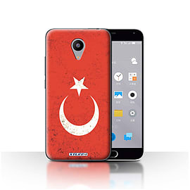 STUFF4 Case/Cover for Meizu M2 / Turkey/Turkish Design / Flags Collection Mobile phones