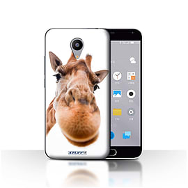 STUFF4 Case/Cover for Meizu M2 / Closeup Giraffe Design / Funny Animals Collection Mobile phones