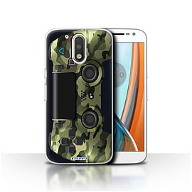 STUFF4 Case/Cover for Motorola Moto G4 2016 / Green Camouflage Design / Playstation PS4 Collection Mobile phones