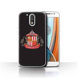 Official Sunderland AFC Case/Cover for Motorola Moto G4 2016/Black Design/SAFC Football Club Crest Mobile phones
