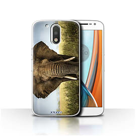 STUFF4 Case/Cover for Motorola Moto G4 2016 / Elephant Design / Wildlife Animals Collection Mobile phones