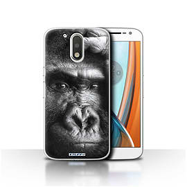 STUFF4 Case/Cover for Motorola Moto G4 2016 / Gorilla/Monkey Design / Wildlife Animals Collection Mobile phones