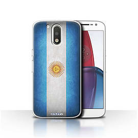 STUFF4 Case/Cover for Motorola Moto G4 Plus 2016 / Argentina/Argentinean Design / Flags Collection Mobile phones