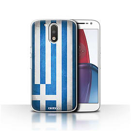 STUFF4 Case/Cover for Motorola Moto G4 Plus 2016 / Greece/Greek Design / Flags Collection Mobile phones