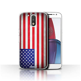 STUFF4 Case/Cover for Motorola Moto G4 Plus 2016 / America/American/USA Design / Flags Collection Mobile phones