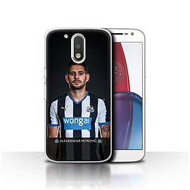 Official NUFC Case/Cover for Motorola Moto G4 Plus 2016/Mitrovic Design/NUFC Football Player 15/16 Mobile phones