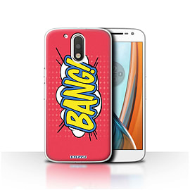 STUFF4 Case/Cover for Motorola Moto G4 2016 / Bang! Design / Comics/Cartoon Words Collection Mobile phones