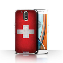 STUFF4 Case/Cover for Motorola Moto G4 2016 / Switzerland/Swiss Design / Flags Collection Mobile phones