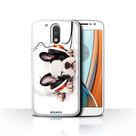 STUFF4 Case/Cover for Motorola Moto G4 2016 / Snooze Headphone Dog Design / Funny Animals Collection Mobile phones