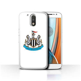 Newcastle United FC Case/Cover for Motorola Moto G4 2016/Colour/White Design/NUFC Football Crest Mobile phones