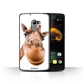 STUFF4 Case/Cover for Lenovo Vibe K4 Note / Closeup Giraffe Design / Funny Animals Collection Mobile phones