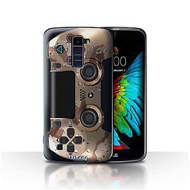 STUFF4 Case/Cover for LG K8/K350N/Phoenix 2 / Desert Camouflage Design / Playstation PS4 Collection Mobile phones
