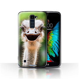 STUFF4 Case/Cover for LG K8/K350N/Phoenix 2 / Ostrich/Emu Design / Wildlife Animals Collection Mobile phones