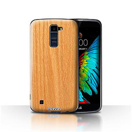 STUFF4 Case/Cover for LG K8/K350N/Phoenix 2 / Pine Design / Wood Grain Effect/Pattern Collection Mobile phones