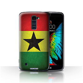 STUFF4 Case/Cover for LG K8/K350N/Phoenix 2 / Ghana/Ghanaian Design / Flags Collection Mobile phones