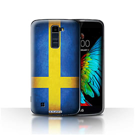 STUFF4 Case/Cover for LG K8/K350N/Phoenix 2 / Sweden/Swedish Design / Flags Collection Mobile phones