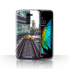 STUFF4 Case/Cover for LG K8/K350N/Phoenix 2 / Slippery Tracks Design / Imagine It Collection Mobile phones