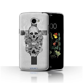 STUFF4 Case/Cover for LG K5/X220/Q6 / Cross/Crucifix Design / Skull Art Sketch Collection Mobile phones