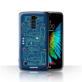 STUFF4 Case/Cover for LG K7 /X210 / Blue Design / Circuit Board Collection Mobile phones