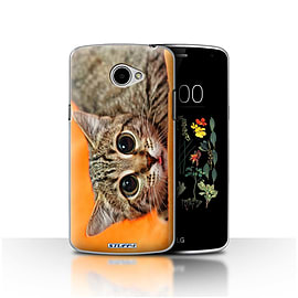 STUFF4 Case/Cover for LG K5/X220/Q6 / Big Eye Cat Design / Funny Animals Collection Mobile phones
