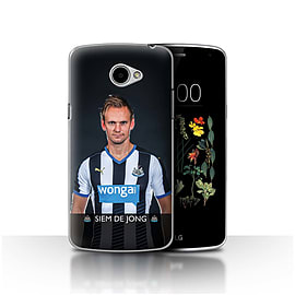 Official Newcastle United FC Case/Cover for LG K5/X220/Q6/De Jong Design/NUFC Football Player 15/16 Mobile phones