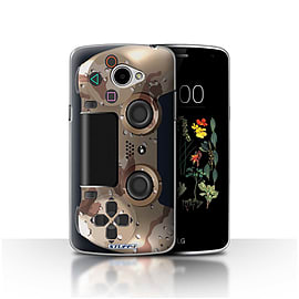 STUFF4 Case/Cover for LG K5/X220/Q6 / Desert Camouflage Design / Playstation PS4 Collection Mobile phones