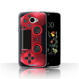 STUFF4 Case/Cover for LG K5/X220/Q6 / Red Design / Playstation PS4 Collection Mobile phones