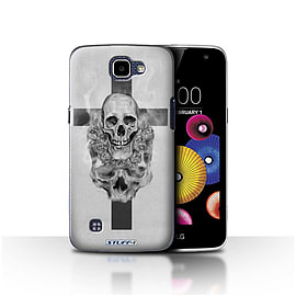 STUFF4 Case/Cover for LG K4/K120/K121/K130 / Cross/Crucifix Design / Skull Art Sketch Collection Mobile phones
