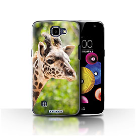 STUFF4 Case/Cover for LG K4/K120/K121/K130 / Giraffe Design / Wildlife Animals Collection Mobile phones