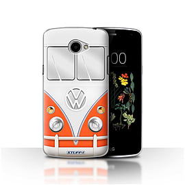 STUFF4 Case/Cover for LG K5/X220/Q6 / Red Design / VW Camper Van Collection Mobile phones