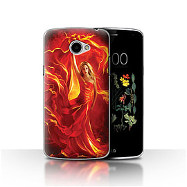 Official Elena Dudina Case/Cover for LG K5/X220/Q6 / Fire Dress Design / Dragon Reptile Collection Mobile phones