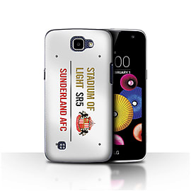Sunderland AFC Case/Cover for LG K4/K120/K121/K130/White/Gold Design/SAFC Stadium of Light Sign Mobile phones