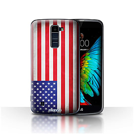 STUFF4 Case/Cover for LG K10 /K420/K430 / America/American/USA Design / Flags Collection Mobile phones