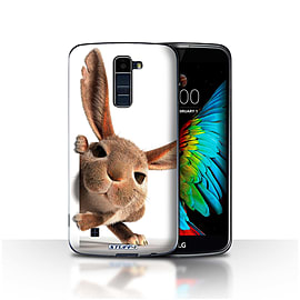 STUFF4 Case/Cover for LG K10 /K420/K430 / Peeking Bunny Design / Funny Animals Collection Mobile phones