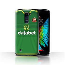 Official Sunderland AFC Case/Cover for LG K10 /K420/K430/Footballer Design/SAFC Away Shirt/Kit 15/16 Mobile phones