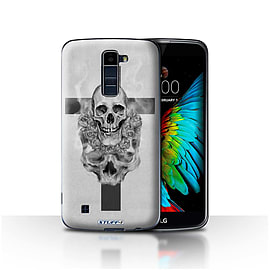 STUFF4 Case/Cover for LG K10 /K420/K430 / Cross/Crucifix Design / Skull Art Sketch Collection Mobile phones