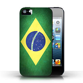 STUFF4 Case/Cover for Apple iPhone SE / Brazil/Brazilian Design / Flags Collection Mobile phones