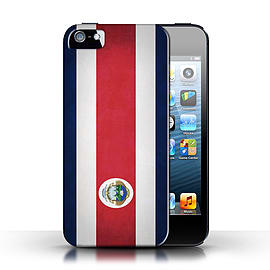 STUFF4 Case/Cover for Apple iPhone SE / Costa Rica/Rican Design / Flags Collection Mobile phones