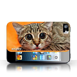 STUFF4 Case/Cover for Apple iPhone SE / Big Eye Cat Design / Funny Animals Collection Mobile phones