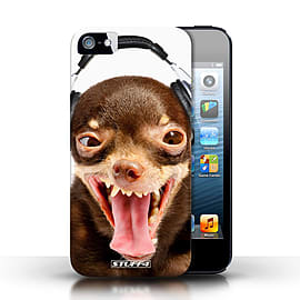 STUFF4 Case/Cover for Apple iPhone SE / Ridiculous Dog Design / Funny Animals Collection Mobile phones