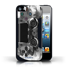 STUFF4 Case/Cover for Apple iPhone SE / White Camouflage Design / Playstation PS4 Collection Mobile phones