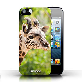 STUFF4 Case/Cover for Apple iPhone SE / Giraffe Design / Wildlife Animals Collection Mobile phones