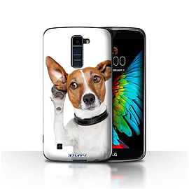 STUFF4 Case/Cover for LG K7 /X210 / Listening Dog Design / Funny Animals Collection Mobile phones