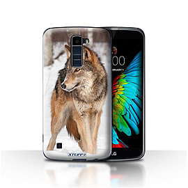 STUFF4 Case/Cover for LG K7 /X210 / Wolf Design / Wildlife Animals Collection Mobile phones