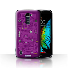 STUFF4 Case/Cover for LG K7 /X210 / Purple Design / Circuit Board Collection Mobile phones