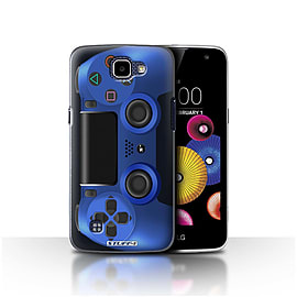 STUFF4 Case/Cover for LG K4/K120/K121/K130 / Blue Design / Playstation PS4 Collection Mobile phones